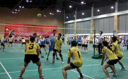 广西上市公司气排球比赛 高清图片